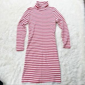 J. Crew • striped turtleneck dress long sleeve